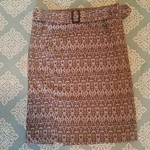 Belted Pencil Skirt Size 11 12 Brown Xoxo